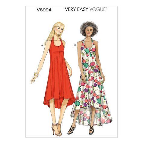 Vogue Sewing Pattern V9103 Women/'s Summer Floaty Lined Dress
