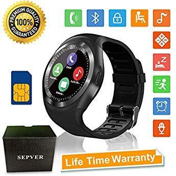 Sepver Smartwatch Smart Watch Rund Mit Sim Karte Slot Touchscreen Fitness Uhr Intelligente Armbanduhr Fitness Tracker Sport Smartwatch Fitness Tracker Fitness