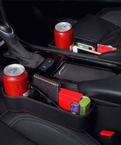 Car Seat Gap Slit Pocket Catcher Organizer Storage Box Phone Bottle Cups Holder