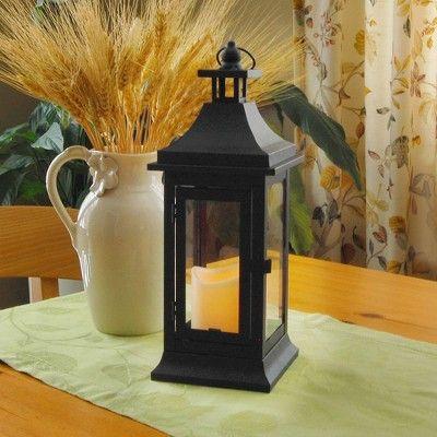 Classic Small Metal Led Lantern With Battery Operated Candle Black Lumabase Led Lantern Metal Lanterns Flameless Led Candles