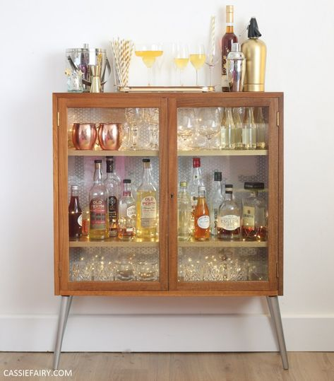 How to DIY a retro mid-century cocktail cabinet for your festive parties