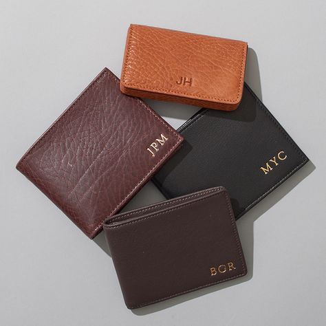 Personalized Men's Leather Wallet | Monogram with his