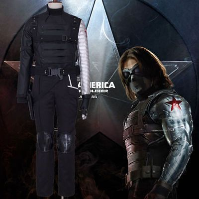 Captain America2 Winter Soldier Bucky Barnes Cosplay Costume Outfit COS Tailored