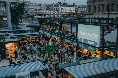 cultural market of containers transforms disused prague site