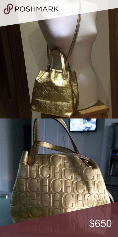 5b25edb8b CH matryoshka mini gold bag New!! Stunning gold color with shoulder strap,  very rare these bags never come with straps Carolina Herrera Bags