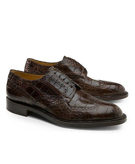 Genuine American Alligator Lace-Up Wingtips - Brooks Brothers ... 219f182db82