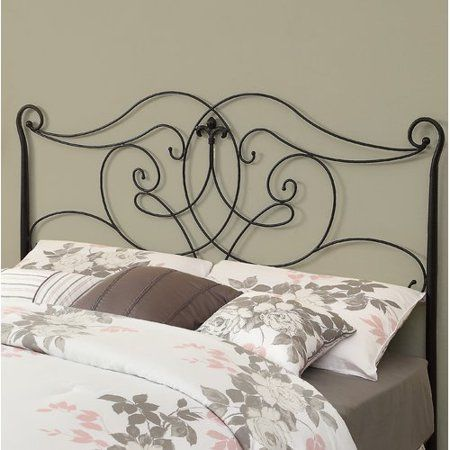 Monarch Specialities Bed Satin Black Head Or Footboard Queen Or Full Size
