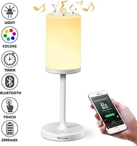 Buy Marrado Bedside Lamp Bluetooth Speaker Color Changing Led Mood Light Dimmable Touch Smart Table Lamp Bedroom Best Gift Teenage College Teens Childr In 2020 Bedside Lamp Table