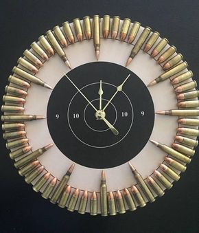 Bullet Clock on Target with Inert Ammo. Great gift for shooters, hunters, military, man cave, gun gift! - Armory Forums