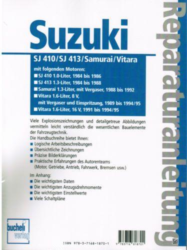 Libro Manual De Reparacion Suzuki Samurai Sj 410 Sj 413 Vitara Banda 1176 Suzuki Samurai Book Repair Repair Manuals