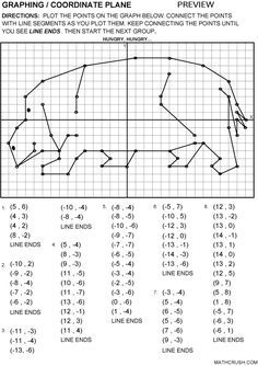 Worksheets By Math Crush Graphing Coordinate Plane Undervisning Laering Undervisning Matematik