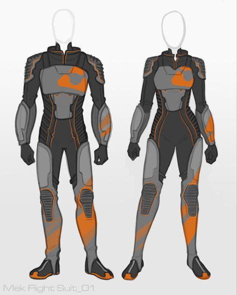ArtStation – Mekamon Flight Suit Designs, Rachel Denton – Art Drawing Tips Superhero Suits, Superhero Design, Super Hero Outfits, Super Hero Costumes, Villain Costumes, Cyberpunk Character, Armor Concept, Fashion Design Drawings, Anime Outfits