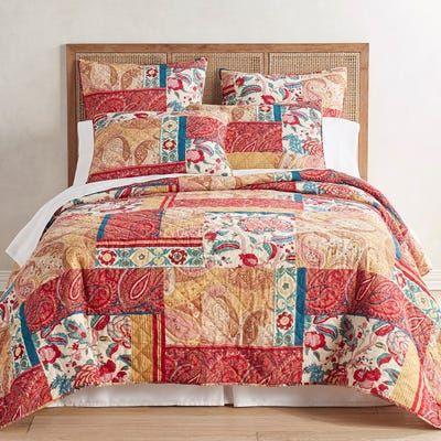 Ansen Patch Gold Quilt Sham Quilt Sets Bedding Sham Bedding Quilted Sham