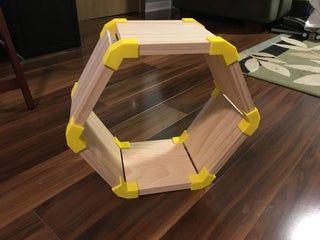 Custom Hexagon Shelves Using 3d Printing Hexagon Shelves Hexagon 3d Printing
