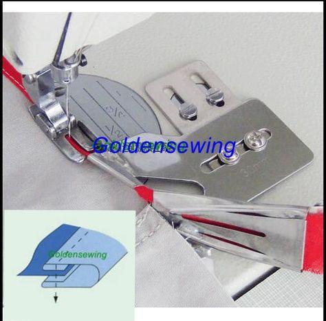 Sewing Machine Single Fold Tape Binder Binding Attachment with Swing Bracket Size 3//4