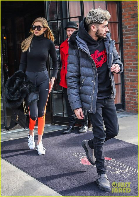 Gigi Hadid Emerges from Hotel with Zayn Malik After Saying She Misses Kendall Jenner: Photo #912824. Zayn Malik leads the way as he leaves his New York City hotel on Friday (January 8). The 22-year-old singer, who was bundled up in a sweatshirt and an overcoat,…