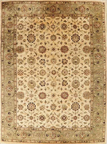 Ivory Floral Agra New Area Rug 9 0 X 12 0 Handmade Wool Oriental Carpet For Living Room In 2020 Living Room Carpet Oriental Carpets Oriental Area Rugs