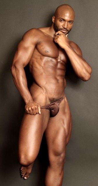 men naked black