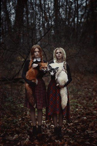Wizard school girls with familiars