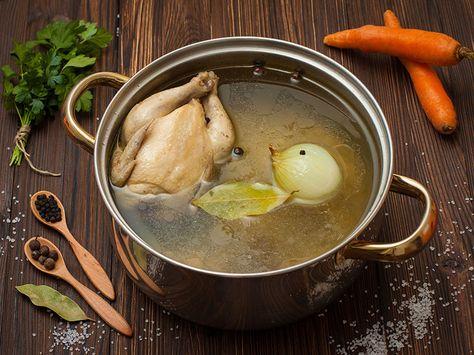 Poulet bouilli maison