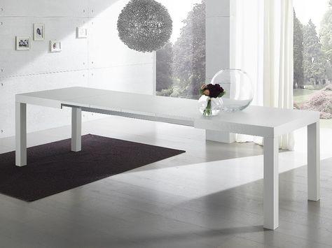 Tavolo Da Pranzo Allungabile Vetro.Tavolo Allungabile Con Piano In Vetro Extrachiaro Elmer Tavolo