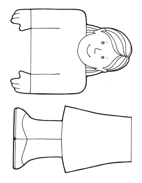 Community helpers paper bag puppets