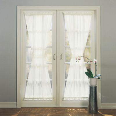 Emily Rod Pocket Sheer Door Panel Bed Bath Beyond Patio Door Curtains Door Curtains Drapes Curtains