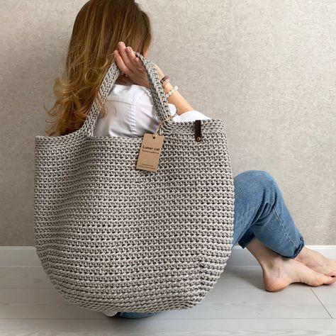Crochet Beach Bags, Bag Crochet, Crochet Purses, Extra Large Tote Bags, Bagged Milk, Jute Bags, Purse Patterns, Market Bag, Shopping Bag