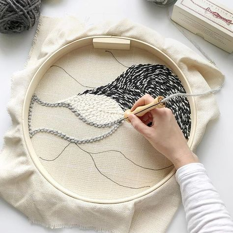 Punch needle art / Oxford punch needle / By Blanc Laine