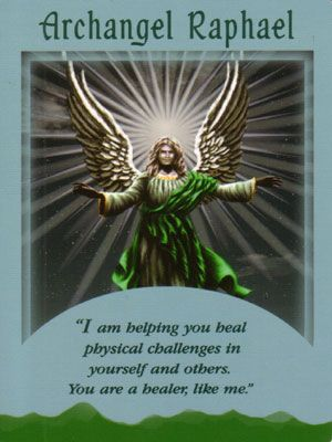 Archangel Raphael Angel Card Extended Description - Messages from Your Angels Oracle Cards by Doreen Virtue Doreen Virtue, Angel Protector, Archangel Prayers, Raphael Angel, Angel Readings, Free Angel, Angel Guidance, I Believe In Angels, Spiritus