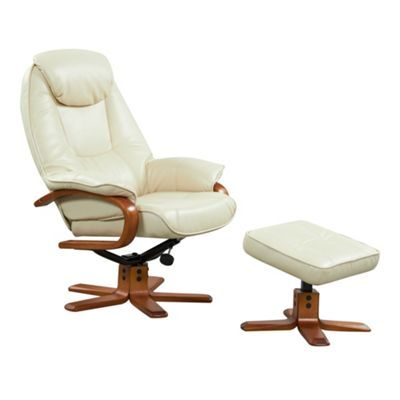 Debenhams Cream bonded leather u0027Bjornu0027 recliner chair and stool set- at Debenhams.com | Ideas for the House | Pinterest | Bonded leather Recliner and ...  sc 1 st  Pinterest & Debenhams Cream bonded leather u0027Bjornu0027 recliner chair and stool ... islam-shia.org