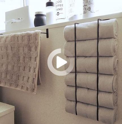 36 Trendy Bain Idees Chambre Bricolage Petits Porte Serviettes Diy Towel Rack Bathroom Towel Storage Small Bathroom Storage