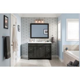 Diamond Freshfit Goslin 48 In Storm Bathroom Vanity Cabinet Lowes Com Rectangular Bathroom Mirror Transitional Bathroom Vanities Bathroom Vanity
