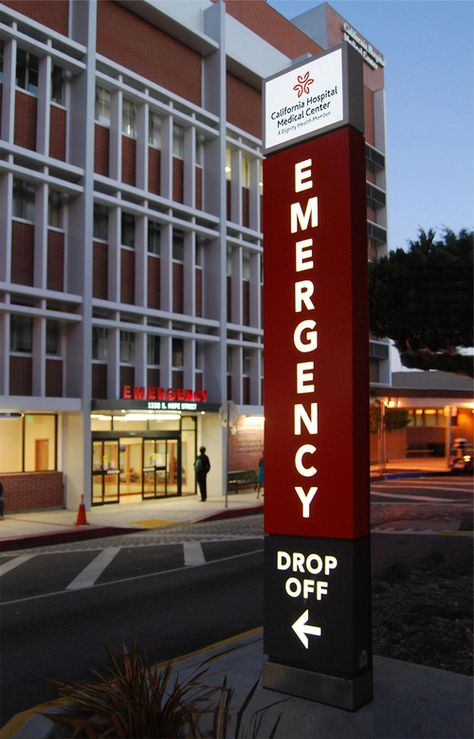 Dignity health california hospital emergency department dignity health california hospital emergency department identification signage villa design architectural signage pinterest emergency department sciox Image collections