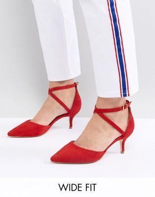 59b6f5957af RAID Wide Fit Lyla Kitten Heel Court Shoe | Stiletos | Pinterest ...