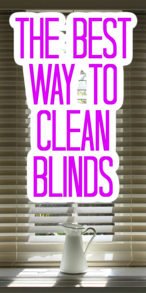 Take a look at our guide to naturally cleaning blinds and make your home a bit cleaner! #blinds #clean #cleaning #cleaner #allnatural Diy Home Cleaning, Cleaning Blinds, Diy Blinds, Speed Cleaning, Household Cleaning Tips, Deep Cleaning Tips, Household Cleaners, Diy Cleaners, House Cleaning Tips
