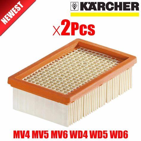 2Pcslot KARCHER Filter for KARCHER MV4 MV5 MV6 WD4 WD5 WD6