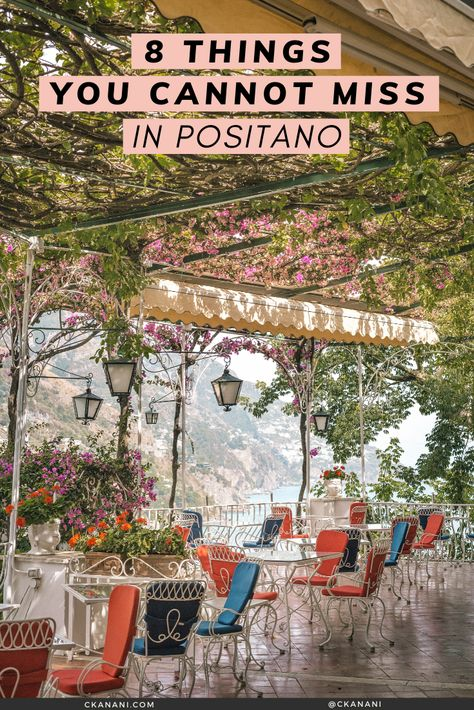 Positano on Italy's Amalfi Coast is full of so many amazing things to see and do that it can be hard to narrow down your to do list. Here are 8 things you absolutely cannot miss when visiting — the best things to do in Positano Italy! Almafi Coast Italy, Italy Coast, Amalfi Coast Positano, Italy Italy, Toscana Italy, Capri Italy, Cinque Terre, Sorrento Italy, Amalfi Italy