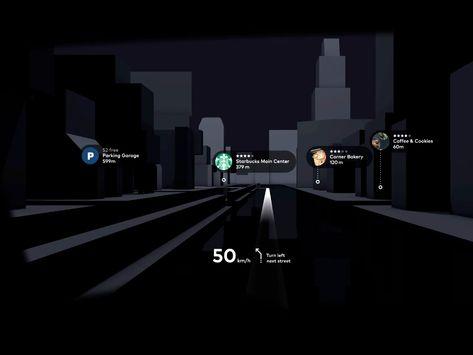 Augmented Reality Head-Up Drive Automotive Scene