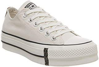 Converse Women's CTAS Lift Ox MouseWhiteBlack Trainers