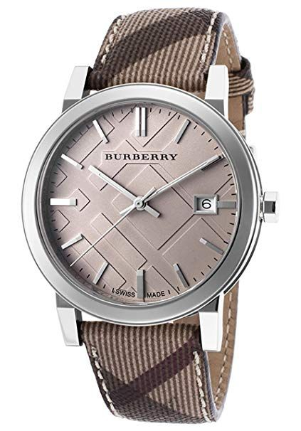 Burberry Embossed Beige Dial Stainless Steel Leather Quartz Ladies Watch Bu9029 Extravagance Luxe Brown Leather Watch Womens Watches Brown Leather Watch Womens