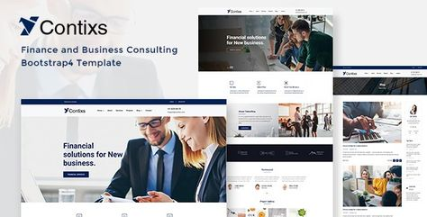 Contixs — Finance and Business Consulting Bootstrap 4 Template | Stylelib