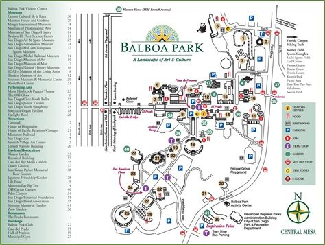 San Diego Balboa Park map Maps Pinterest San diego Usa cities