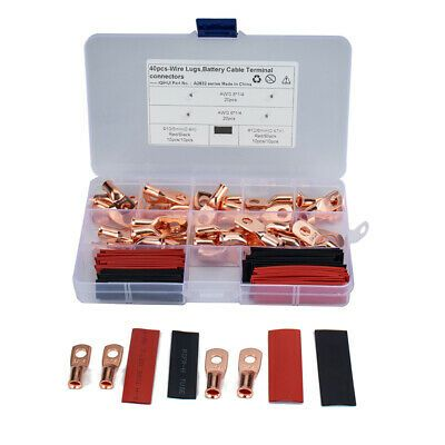 Heavy Duty Copper Battery Cable End Lug 2 1 Heat Shrink Tube Assortment Kit In 2020 Heat Shrink Battery Cable