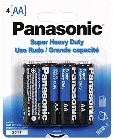 Panasonic Aa 4 Pack Batteries Super Heavy Duty Power Carbon Zinc Double A Battery 1 5v Default Title Panasonic Battery Heavy Duty