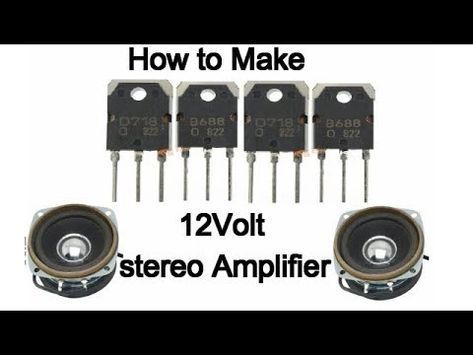 Stereo Audio Amplifier Using Two D718 Transisters