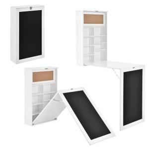 En Casa Table Murale Pliable Mdf Bureau Pour Deplier Blanc Table Murale Table Murale Rabattable Bureau Mural Rabattable