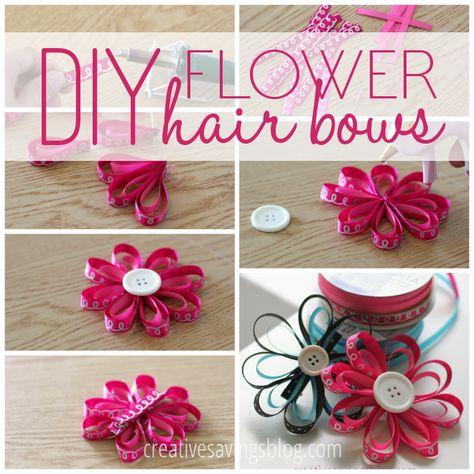 DIY Flower Hair Bows