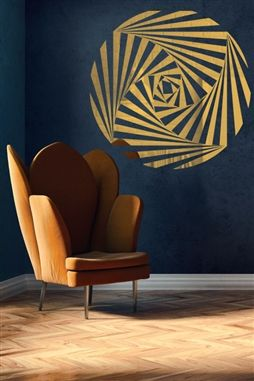 Optical Spiral Wall Decal Reflective Mirror Decals In 2020 Mirror Decal Wall Decals Cool Walls