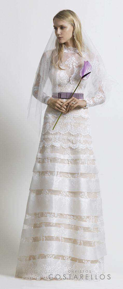 Christos Costarellos Bridal 2014 collection. A wedding dress with chantilly lace and silk organza details, on a silk organza base. Code: BR14 16. For stockists please visit www.costarellos.com #christoscostarellos #costarellos #costarellosbride #bridaldress #bridalgown #weddingdress #weddinggown #lace #bridetobe #bridalmarket #bridalfashion #wedding